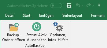 Screenshot 1 - SmartTools AutoBackup für Excel