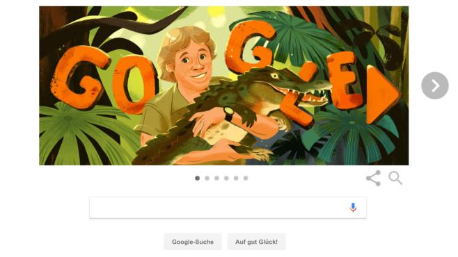 Google Doodle: Steve Irwin©Google