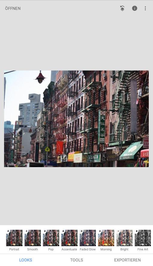 Screenshot 1 - Snapseed (App für iPhone & iPad)