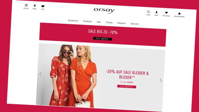 Orsay: Rabatt im Onlineshop sichern©PR/Screenshot www.orsay.com