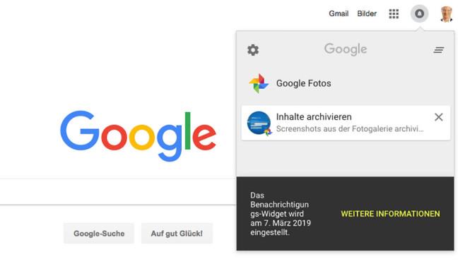 Google-Benachrichtigungswidget©COMPUTER BILD