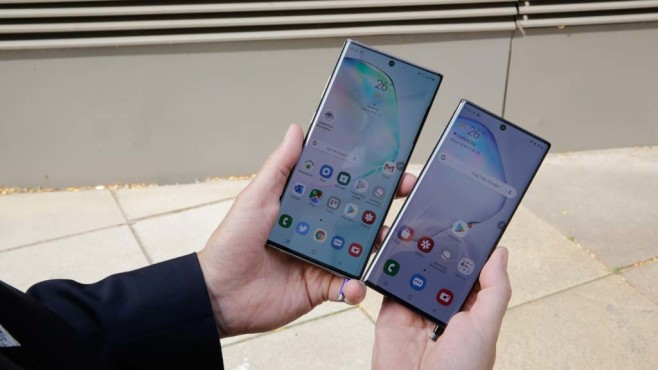 Samsung Galaxy Note 10 Plus versus Galaxy Note 10 © COMPUTER BILD