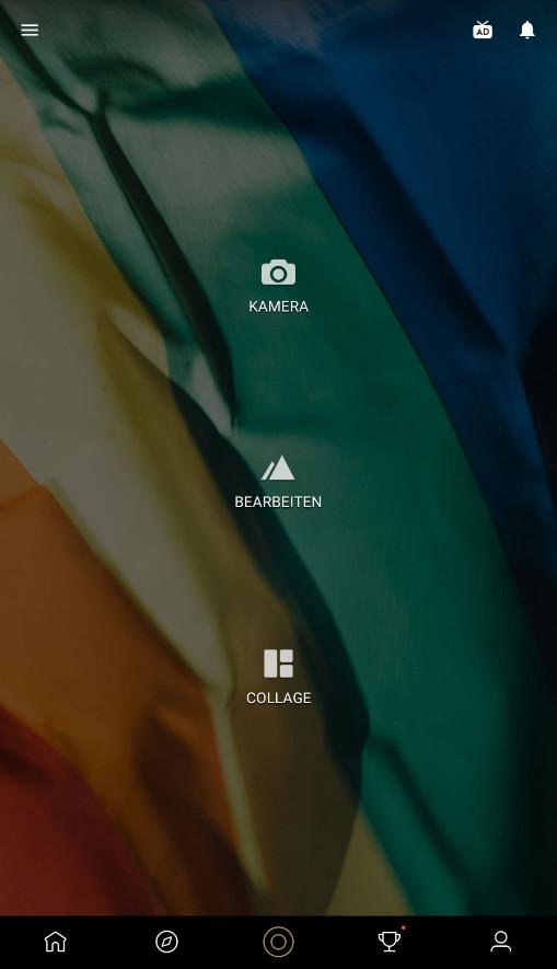 Screenshot 1 - Fotor Photo Editor (Android-App)
