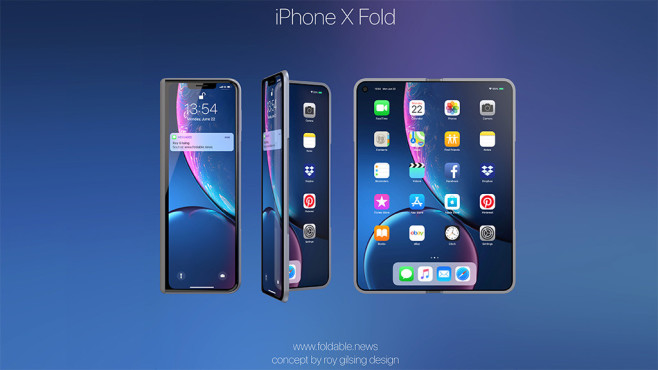 iPhone X Fold Design © Roy Gilsing / foldable.news