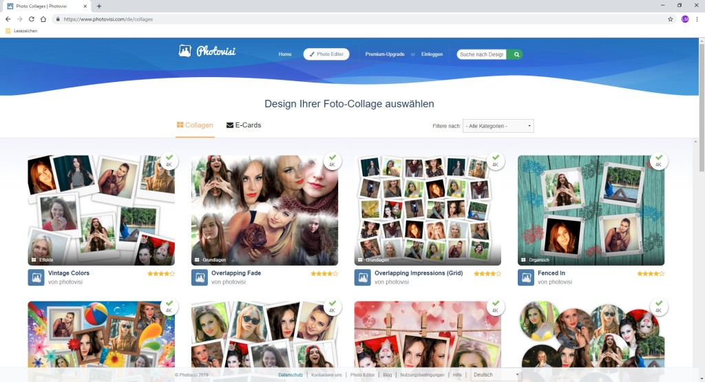 Screenshot 1 - Photovisi: Fotocollagen erstellen