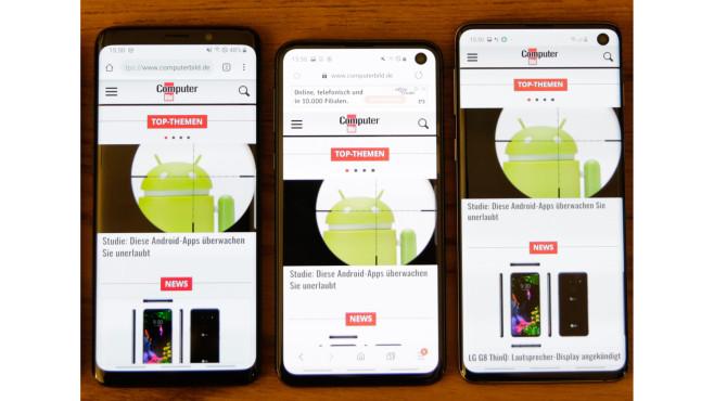 Samsung Galaxy S9, Galaxy S10e, Galaxy S10©COMPUTER BILD