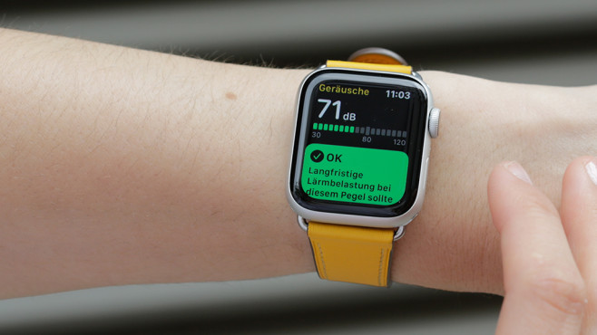 Noise-App auf Apple Watch © COMPUTER BILD