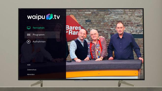 Waipu.tv auf Android-Fernseher©Sony, Waipu.tv