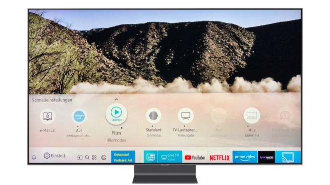 Samsung Q90R im Test: So gut kann ein LCD-Fernseher sein! Klar für einen UHD-Fernseher: Der Samsung Q90R ist HDR-tauglich, die Schaltfläche für den Bildmodus im Home-Menü signalisiert entsprechende Filme und Streams.©Samsung, COMPUTER BILD