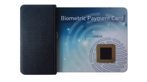 Bankkarte mit Fingerabdrucksensor©Gemalto