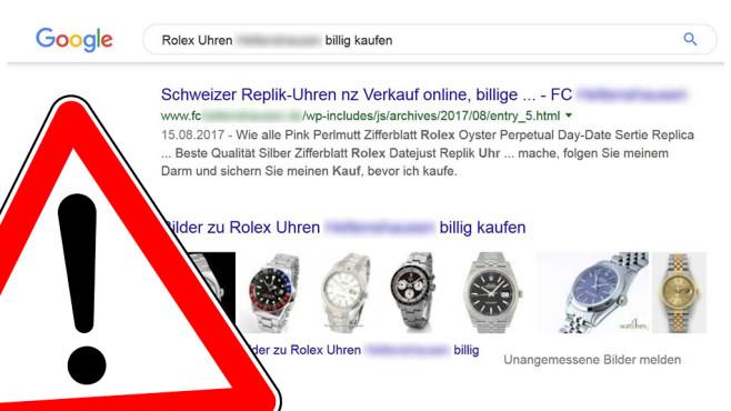 0209af77aa03ae Rolex vom Fußballverein: So dreist hacken Fake-Shops! - COMPUTER BILD