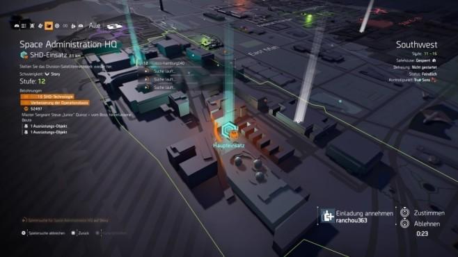 The Division 2: Schnell leveln! Haupteinsätze sollten Sie auf jeden Fall in der Gruppe angehen.©Ubisoft