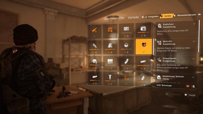 The Division 2: Schnell leveln! Mit aktivierter EP-Boni gibt es eine Boost beim Hochleveln.©Ubisoft