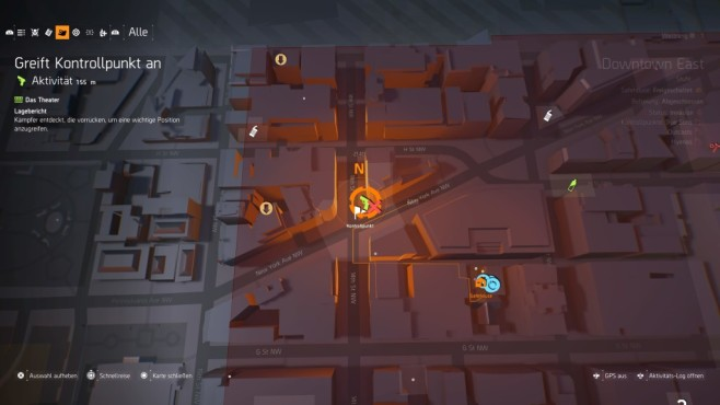 The Division 2: Schnell leveln! Sterben Sie bei der Einnahme eines Kontrollpunkts reisen Sie schnell zu den NPCs.©Ubisoft