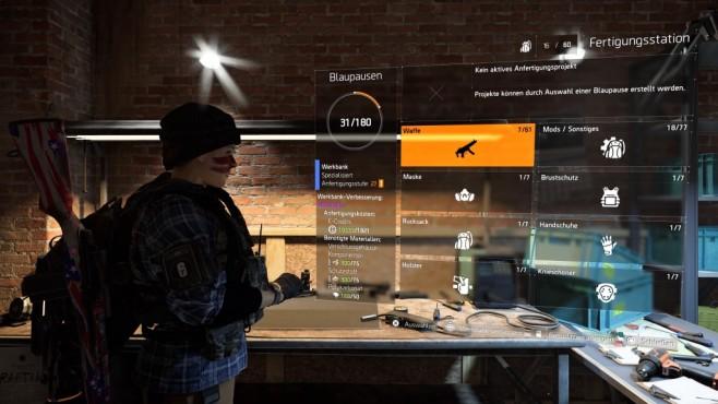 The Division 2: Schnell leveln! Vergessen Sie nicht Ihre Werkbank aufzuwerten um bessere Gegenstände herzustellen.©Ubisoft