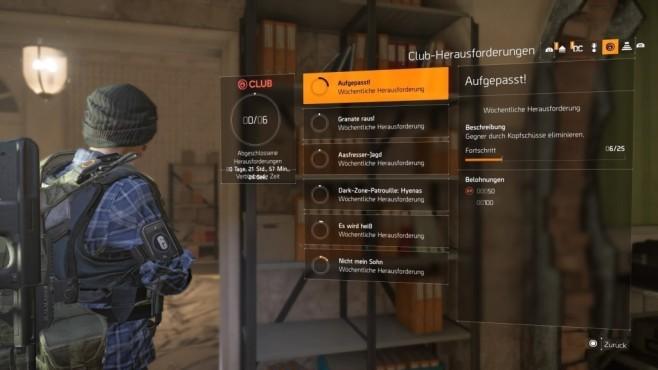 The Division 2: Schnell leveln! Zwar sind die Ubisoft-Herausforderungen nicht grade ertragsreich, aber Kleinvieh macht auch Mist.©Ubisoft