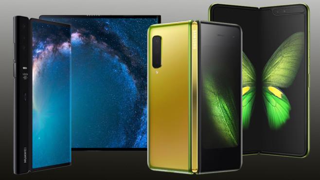 Faltbare Samsung- und Huawei-Handys©Samsung / Huawei