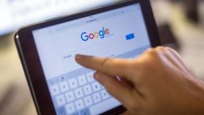Google Suchmaschine auf einem Tablet.©dpa-Bildfunk