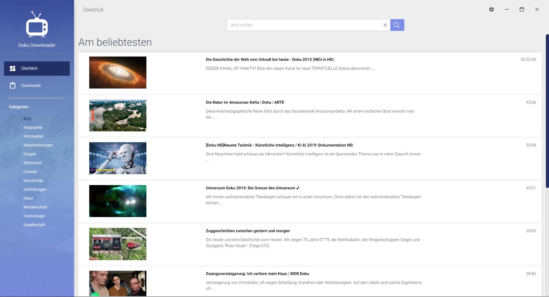 Screenshot 1 - Doku Downloader – Kostenlose Vollversion