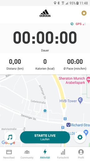 Adidas Running by Runtastic (Android-App)