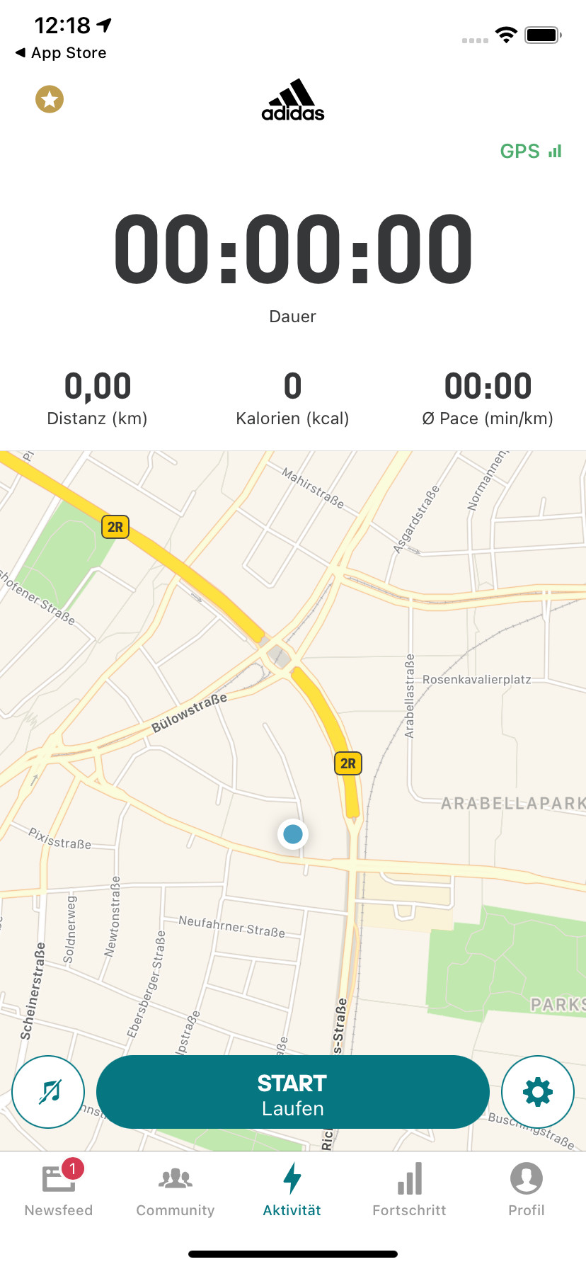 Screenshot 1 - Adidas Running by Runtastic (App für iPhone & iPad)