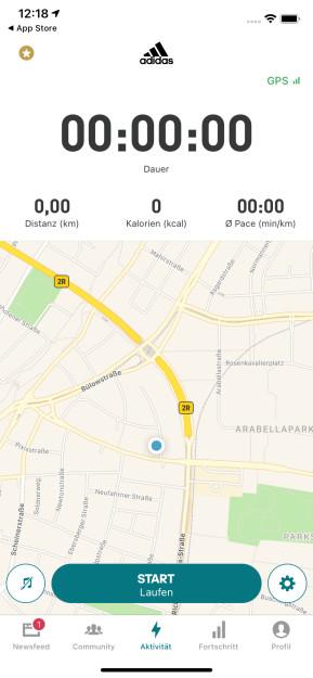 Adidas Running by Runtastic (App für iPhone & iPad)