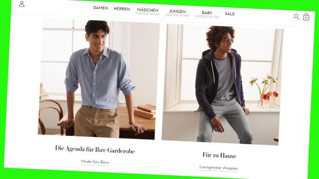 Günstiger Klamotten online shoppen bei Boden©PR/Screenshot www.bodendirect.de