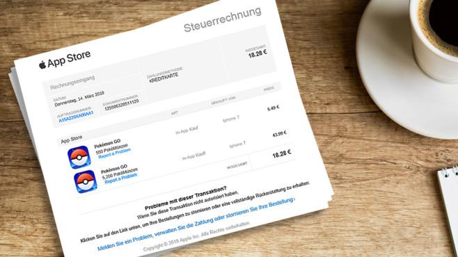 Gefälschte Rechnung für Apple App Store©watchlist-internet.at, Lucky Business-Fotolia.com