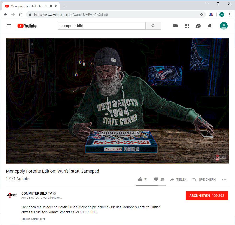 Screenshot 1 - YouTube Video Effects für Chrome