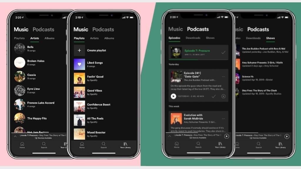 Spotify Bibliothek Weg