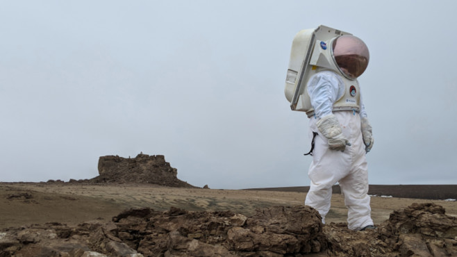 NASA-Forscher auf Devon Island©Google Street View