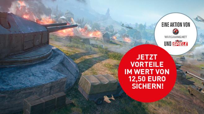 World of Tanks Gutschein: Sichern Sie sich Panzer und Spielvorteile im Wert von 25 Euro! Neue Taktiken braucht das Spiel mit den Radfahrzeugen – trotz langer Rohre.©Wargaming