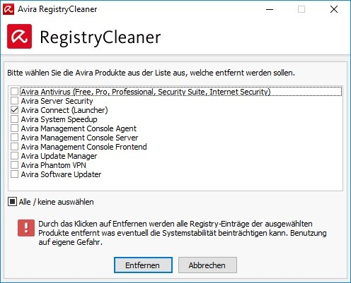 avira regestry cleaner