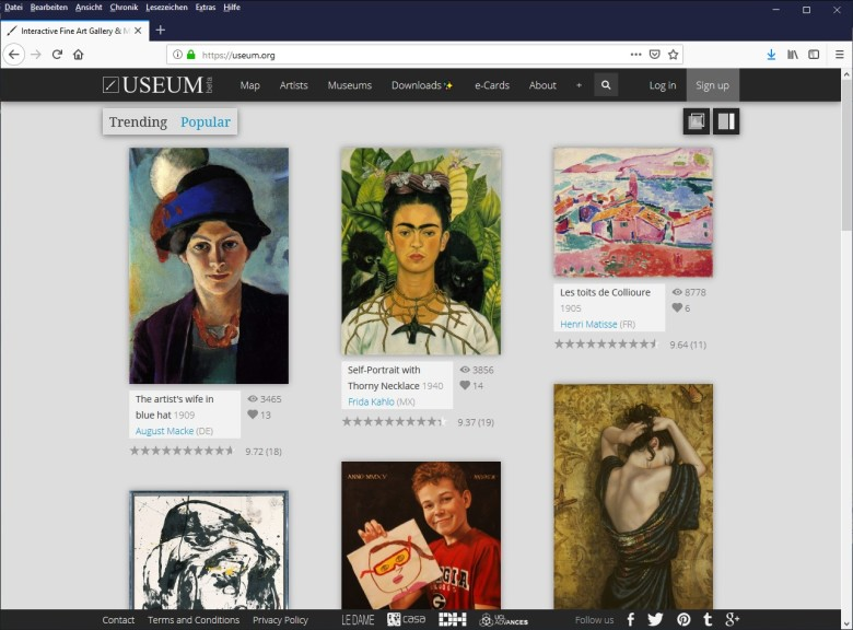 Screenshot 1 - Useum: 21.000 Gemälde kostenlos als Wallpaper herunterladen