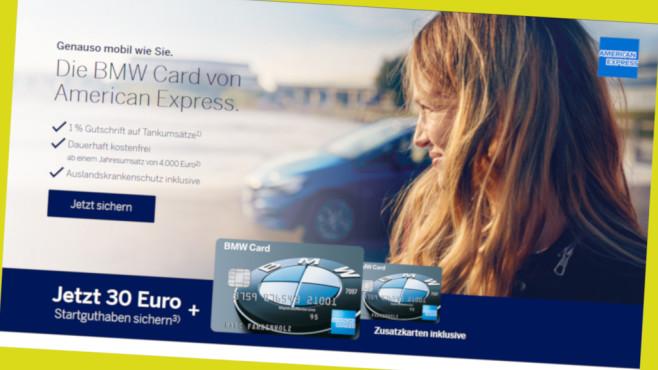 American Express BMW Card Aktion mit Startguthaben©PR/www.amex-kreditkarten.de