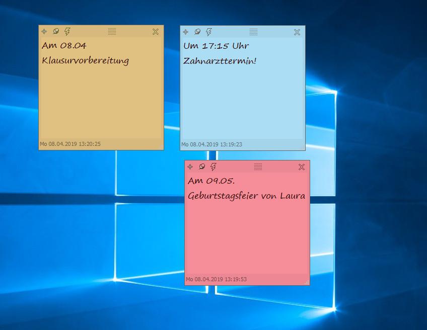 Screenshot 1 - DesktopNoteOK