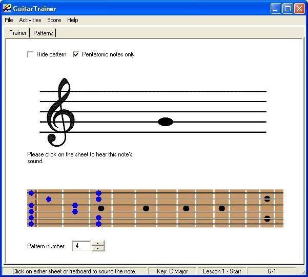 Screenshot 1 - GuitarTrainer