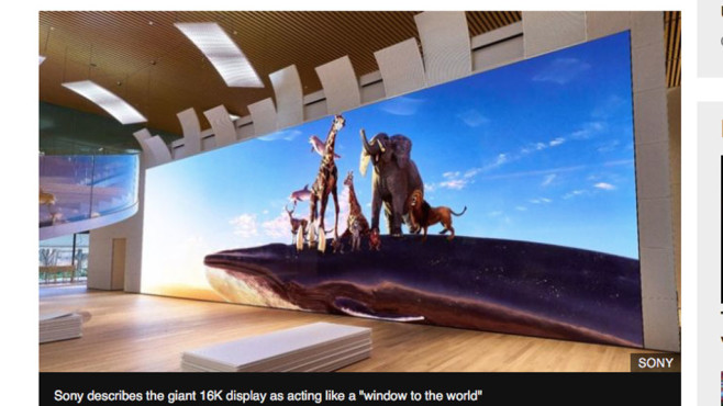 Sony: 16K-Display©Sony / bbc.com