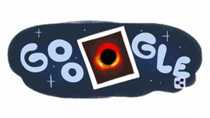 Google Doodle: Schwarzes Loch©Google