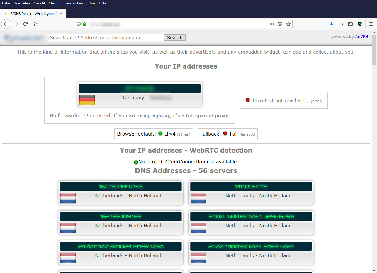 Screenshot 1 - Disable WebRTC für Firefox