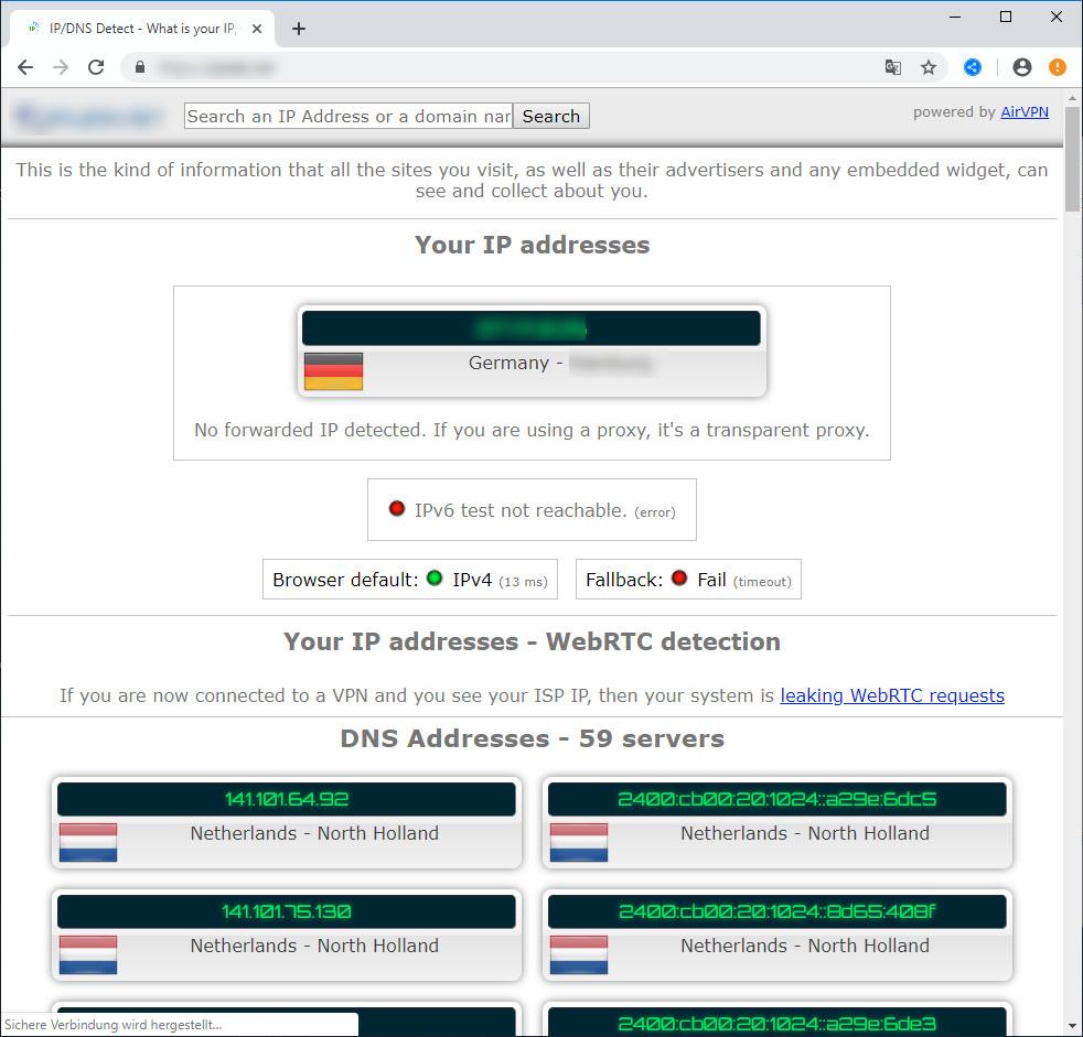 Screenshot 1 - WebRTC Control für Chrome