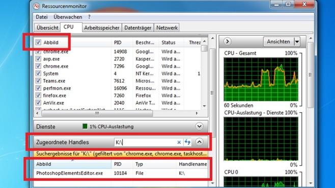 Windows 7/8/10: Welches Programm blockiert das USB-Auswerfen?©COMPUTER BILD