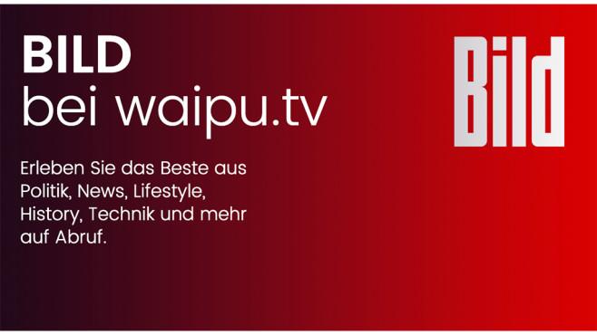 BILD HD empfangbar über waipu.tv©waipu, Bild