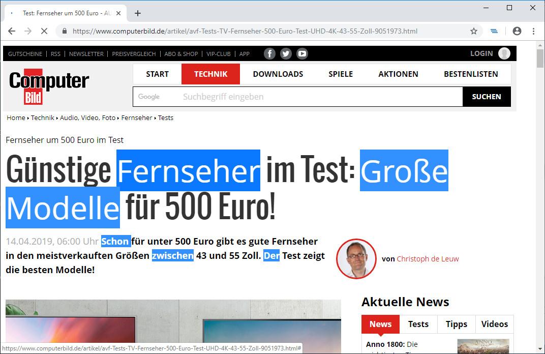 Screenshot 1 - Noncontiguous Text Selection für Chrome