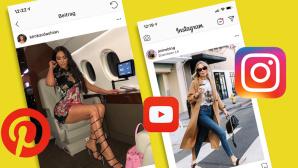 Social Media: Erkennen Sie die Werbung? Einkaufen mit Snapchat, Instagram & Co. – neue Funktionen sollen es möglich machen.©Instagram, Pinterest, Youtube