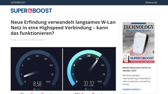 Super Boost WiFi©COMPUTER BILD