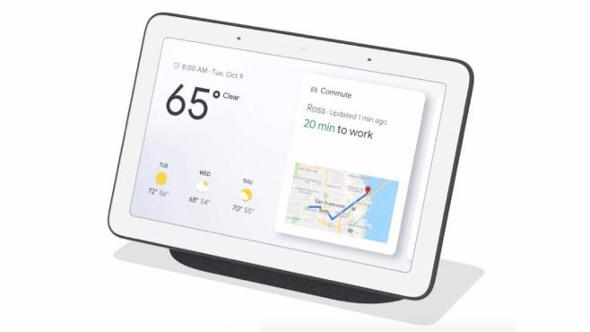 Google I/O 2019: Android 10, Pixel 3a & Co. – alle Highlights Googles Home Hub soll unter anderem als Schaltzentrale fürs smarte Heim dienen.©Google