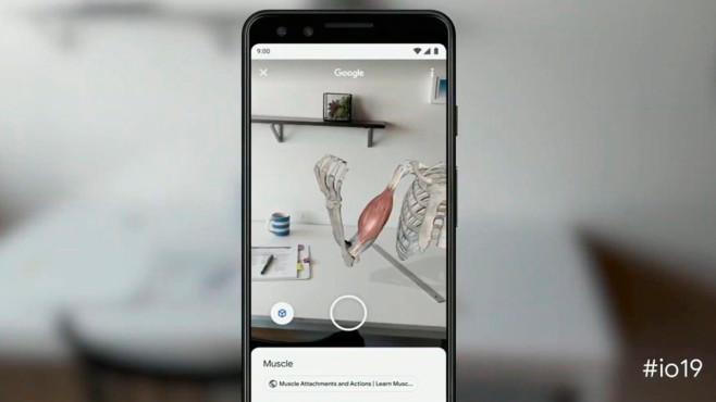 Google I/O 2019: Vorschau, Live-Stream, Android 10, Google Stadia, Pixel 3a & Co. Muskelspiel: Die Google Suche integriert bald auch 3D-Modelle, die dank AR zum Leben erwachen.©Google