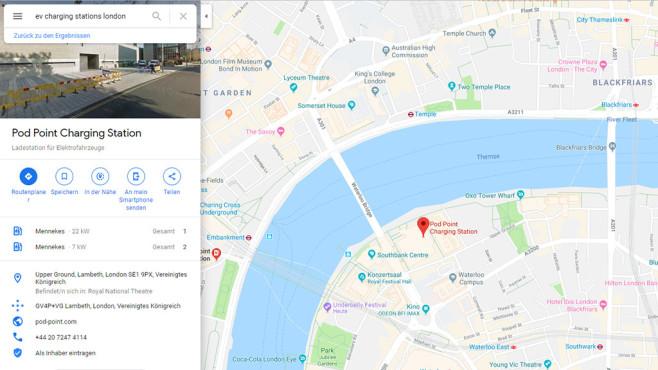 Google Maps London©Google