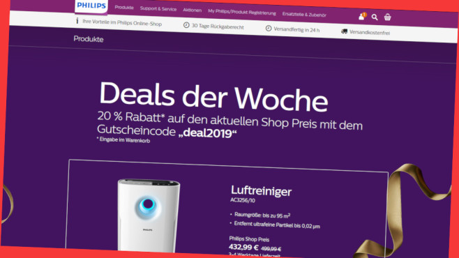 Deal der Woche bei Philips © PR/Screenshot www.philips.de/shop